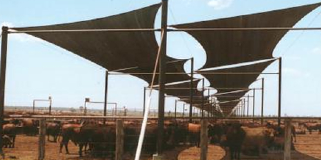 Shade sails on a farm near Toowoomba