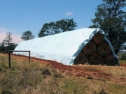 A hay tarp on a farm in Toowoomba